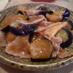 春風廊 - 豚バラ肉となすの広東風炒め