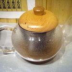 つけ麺 玄瑞 - 「玄瑞」昆布の入った割りスープ