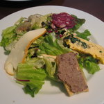 ラ・クローチェ - ランチの前菜サラダ