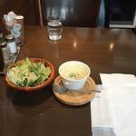 Grillマッシュ - ランチセットのサラダとマッシュポテトプレーン100g200円