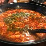辛麺 一矢 - 辛麺玉子麺