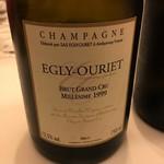 レストラン ラ フィネス - Egly Ouriet Burt Grand Cru Millesimeのミレジメの2006年と2014年の同時対比