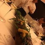 レストラン ラ フィネス - 米油でコンフィした京都の白子 木の芽を添えて 孟宗竹、破竹
