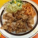 """キッチンABC - 焼肉(""""元祖""""ポークたれ焼き)680円(税込)"""