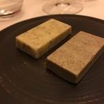 レストラン ラ フィネス - 白トリュフバターとモリーユのバター
