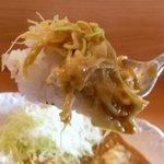 新乃 - 和洋の味とスパイスが渾然一体となり、キャベツの食感も楽しい、美味しいカレーでした