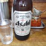 亀戸餃子 - 大瓶ビール
