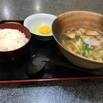 桃太楼 - かしわ(鶏)定食(^^)