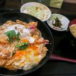 無添さぬきめん あじ豊 - ボクは「海老とじ丼」(800円)。コチラのお店・・・丼モノはハズレなしです。