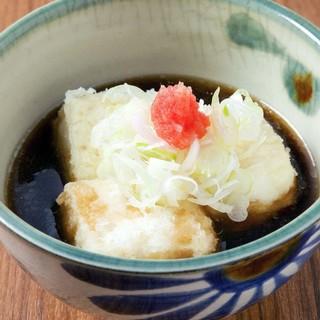 人気の夜メニュー「揚げだし豆腐」
