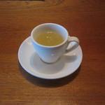 バーホシ イーリス - 夏は冷製スープがでます。