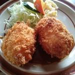 レストラン高砂 - カニクリームコロッケランチ(590円) アップ