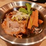 京都千丸 しゃかりき むらさき - 座(しゃかりき定番ラーメン)鶏×煮干し