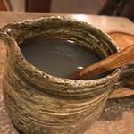 笑空 - 若干薄めの蕎麦湯