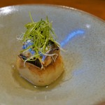 リストリア ラディーチェ - 新生姜、焼きリゾット、鰯のコンフィ