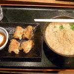 赤坂麺通団 - かけ小・竹輪・温玉