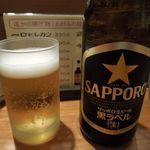 とんかつ 田 - 瓶ビール