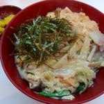 なんばうどん - 木の葉丼(370円)