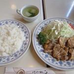 パンデュール - 豚の生姜焼き、スープ、ごはん