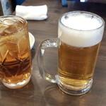 大衆鳥酒場 鳥椿 - ウーロンハイ(390円)+生ビール(350円)