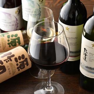 国産ワインが自慢♪