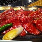 6813987 - 和牛盛り(ロース/カルビ)定食1500円