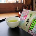 和束茶屋 山甚 - 一煎お茶セット「新茶」税込300円(2017.5月)