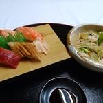 みき寿司 - 料理写真:ちゃんぽんとお寿司のセット