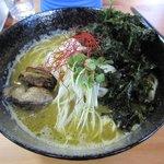 らー麺つけ麺 みやがわ - 牡蠣らーめん(大盛り)2017.06.04