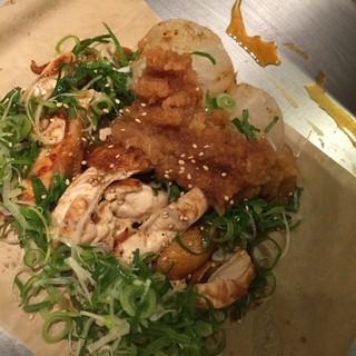 名古屋コーチン鉄板焼 薬膳水炊き鍋 かしわ - でてきたのは大嫌いなネギどっさり