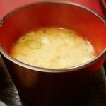 知床 かに乃家 - ヘンテコな入れ物で登場の味噌汁?