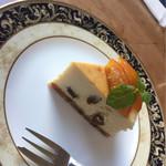 ちくたく - ラムレーズンチーズケーキ