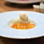 Prune - 柑橘のサラダ レモンのソルベ添え