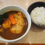 かれー屋ひろし - チキンスープカレー(ご飯すくなめ)