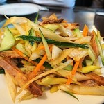 中華料理 祥宇 - ネギとチャーシューのあえ物