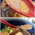 極や - スープと極太メンマ