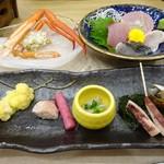 別邸 つばき - 料理写真:前菜とお刺身