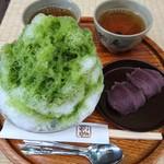 赤福 - 赤福氷520円と盆210円 お茶は無料サービスです♪