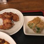 芝蘭 - 唐揚げと野菜の湯葉巻き