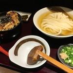 68155066 - ひやかけ(¥500)・ミニ鶏玉丼(¥500)