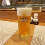 寿し処 昇利 - ドリンク写真:静岡ビール