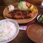 68158841 - 特ロースと御飯と味噌汁