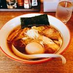 のんべえ食堂 天火 - どうずら限定ラーメン(味玉+鶏&豚チャーシュー)