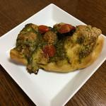 パーネ エ オリオ - 「ジェノベーゼ フォカッチャ」。 丁寧な作り、とても美味です。