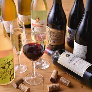 ワインは常時20種以上!豊富なラインナップ!