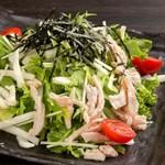 蒸し鶏と大根のサラダ