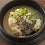 白濁スープの鶏飯