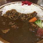 Buzz curry  札幌本店 花車 - スペシャルビーフカレーセット 1100円 サラダ、ドリンク付