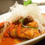 Kitashinchikyouka - 白身魚の黒酢餡かけ