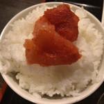 68169424 - 電球定食 ¥750 の明太子ご飯